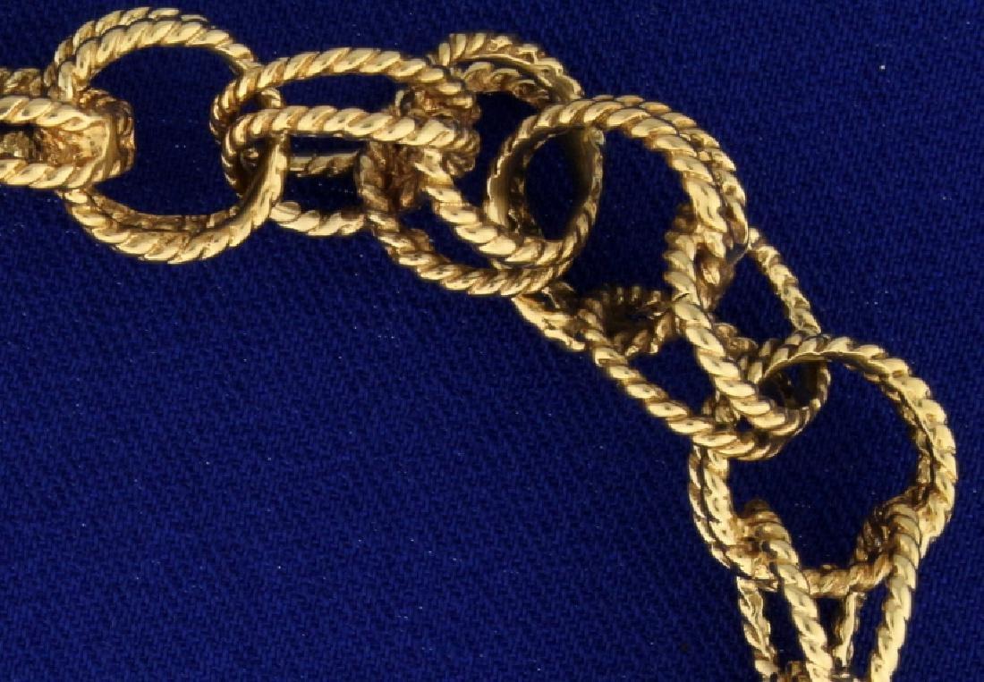 Interlocked Chain Charm Bracelet - 2