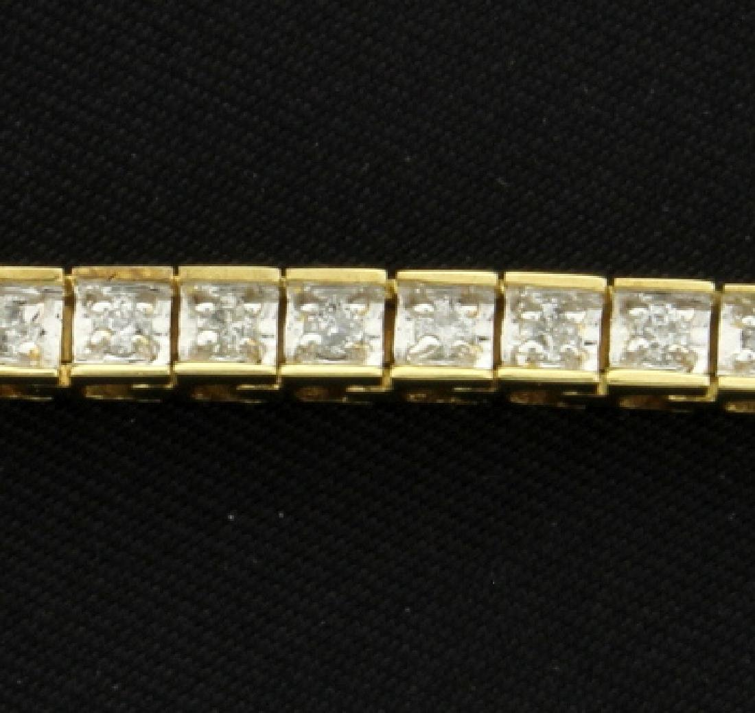 2/3ct Total Weight Diamond Tennis Bracelet - 2