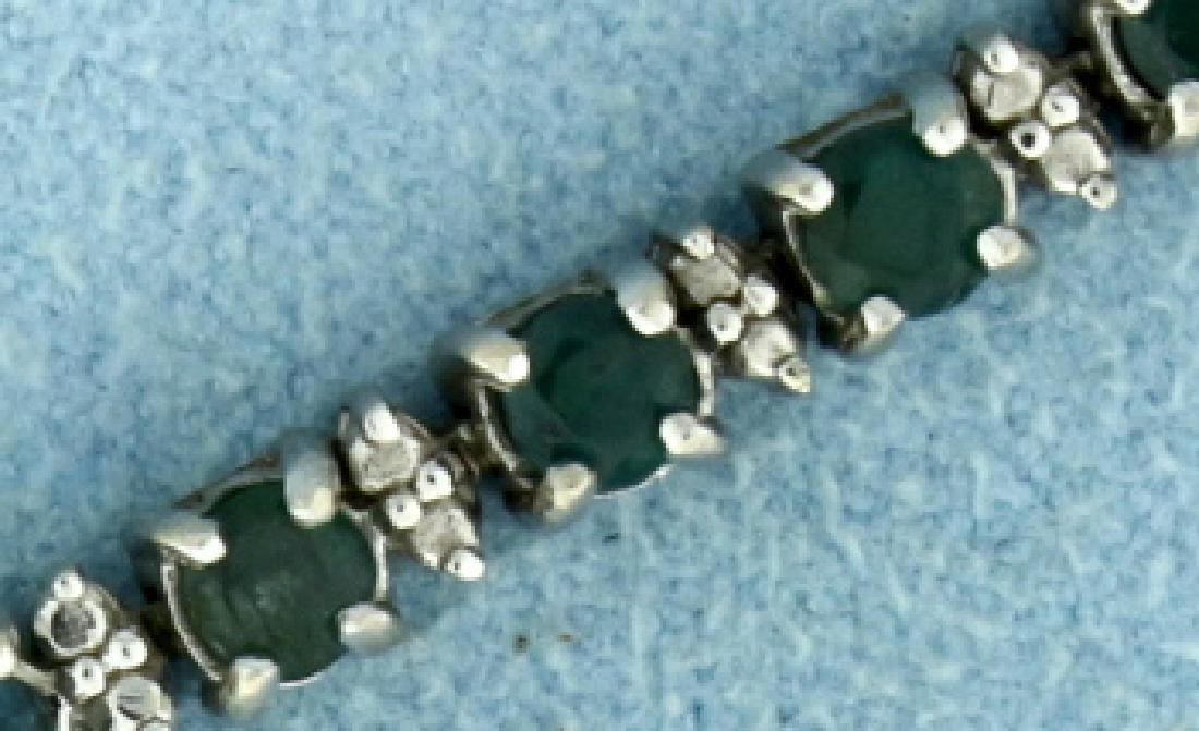 3ct TW Alexandrite Bracelet in White Gold - 2