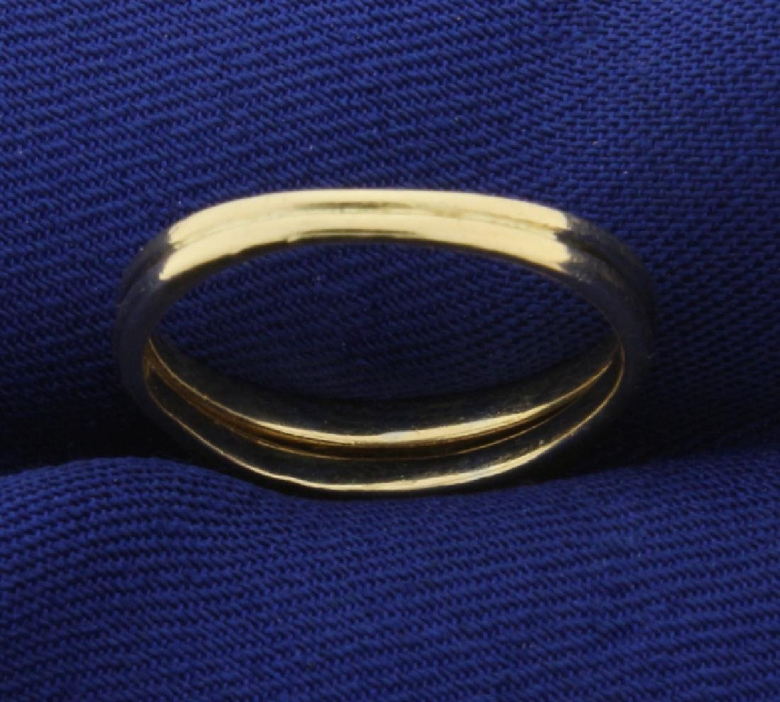 Diamond Wedding Ring Set in 14K Yellow Gold - 3