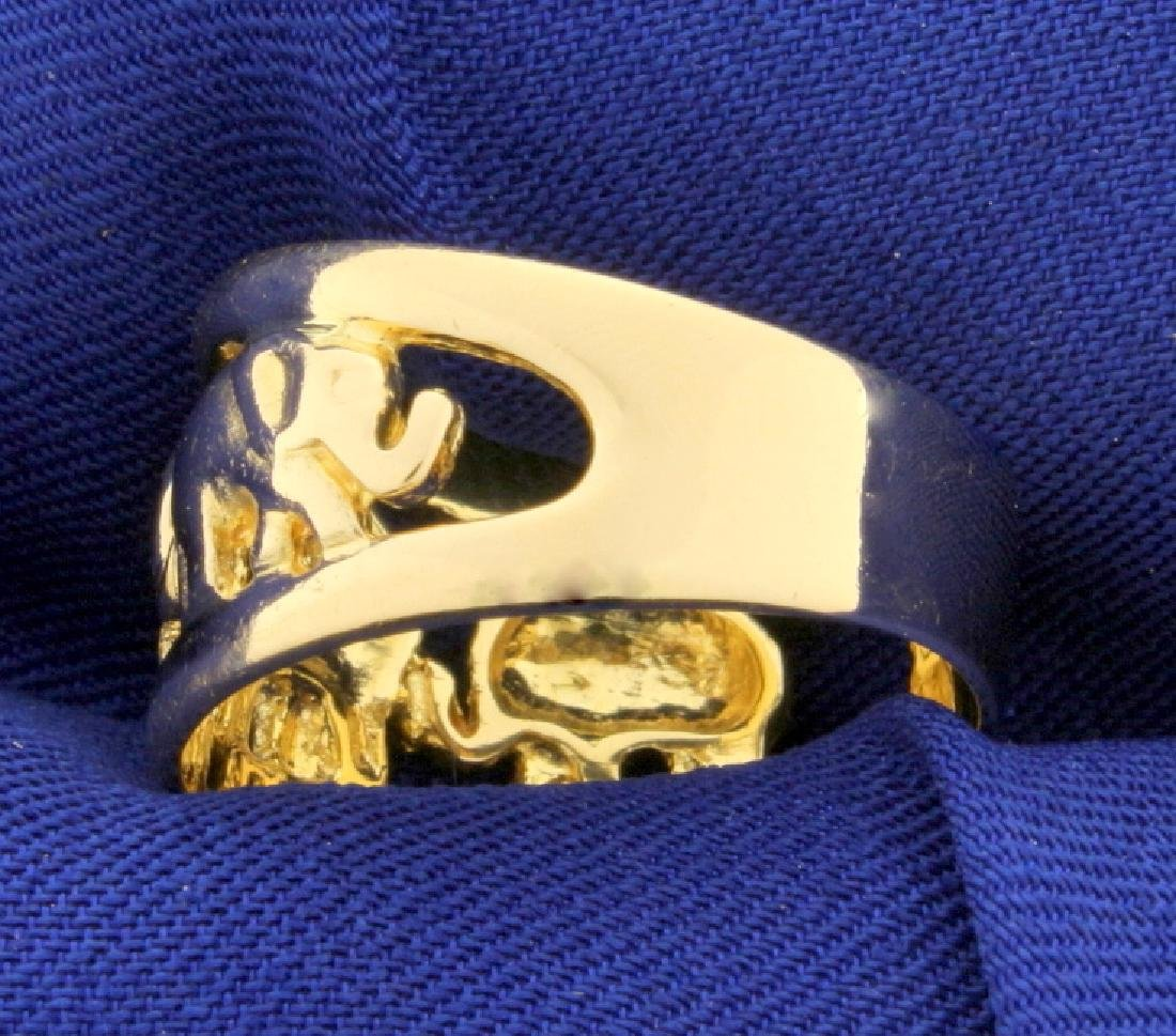 Elephant Ring in 18k Gold - 2