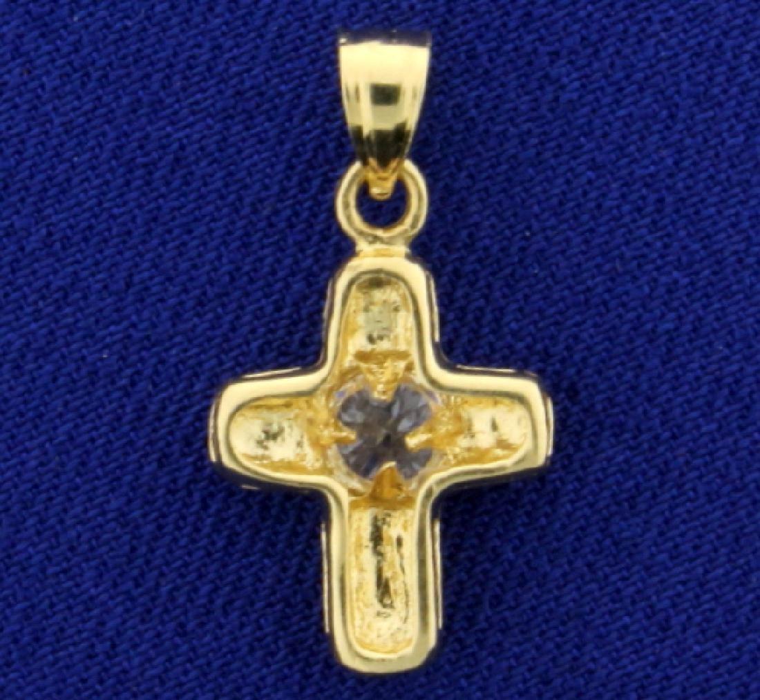 Cross Pendant in 14K Yellow Gold - 2
