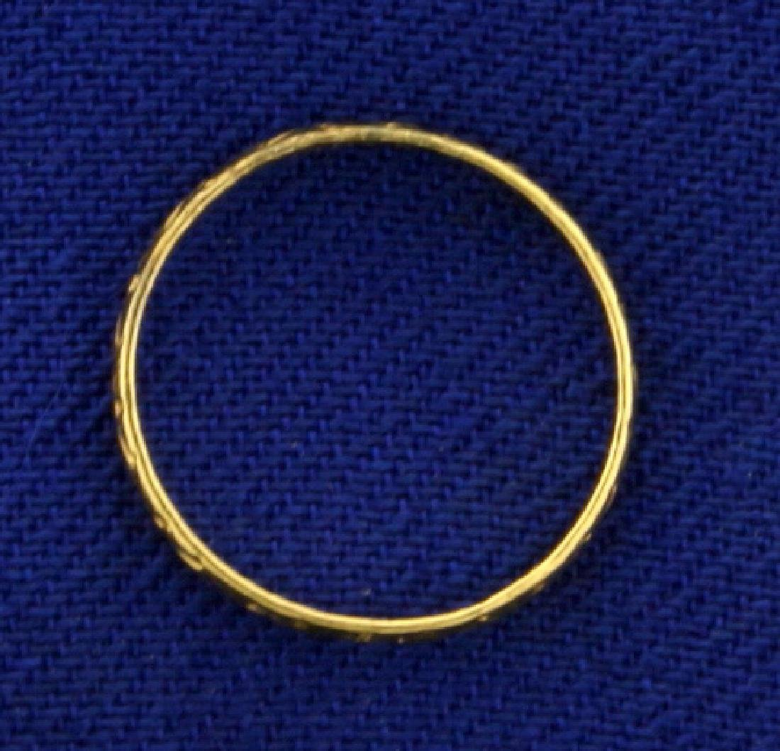 Gold Band Baby Ring in 10K Yellow Gold - 2