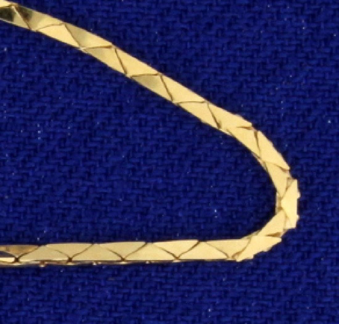 16 1/4 Inch Triangular Curb Link Neck Chain - 2