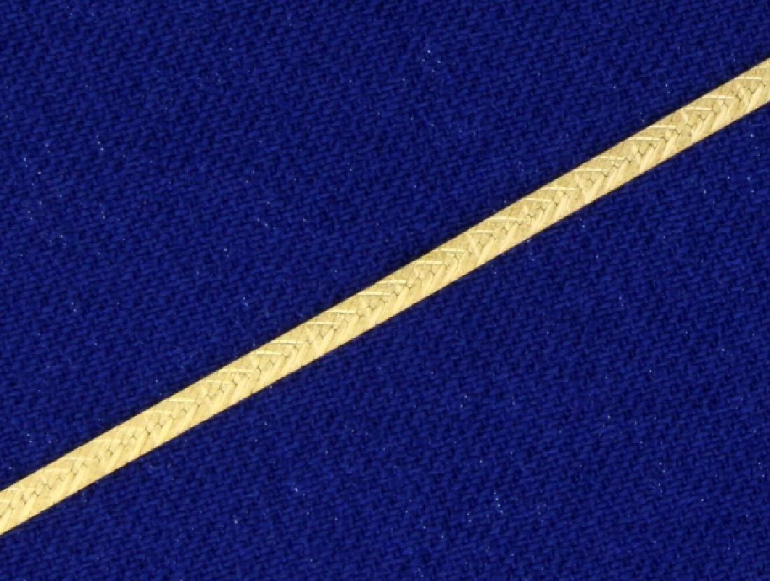 Italian Made Diamond Cut Flat Link Chain in 14K Yellow - 2