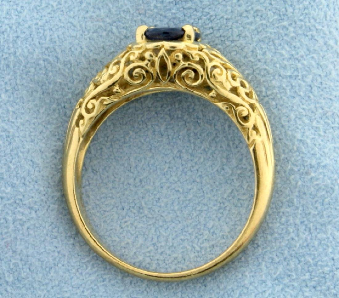 1.5ct Natural Sapphire Filigree Ring - 3