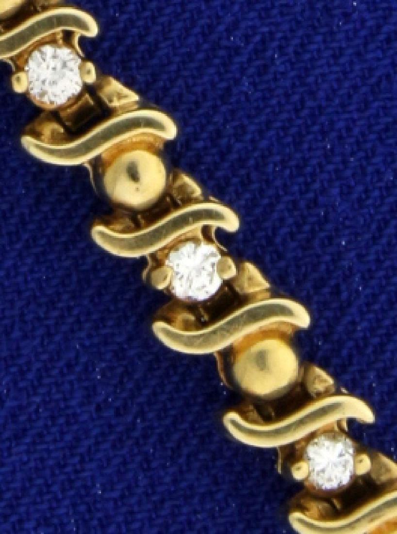 3/4 carat Diamond Bracelet - 2