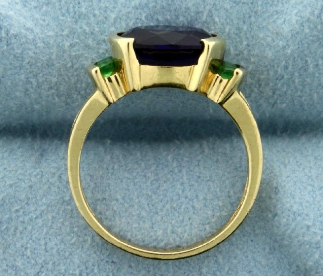 Amethyst and Peridot Ring in 14K Yellow Gold - 3