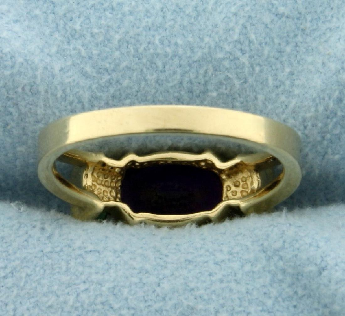 Amethyst and Peridot Ring in 14K Yellow Gold - 4
