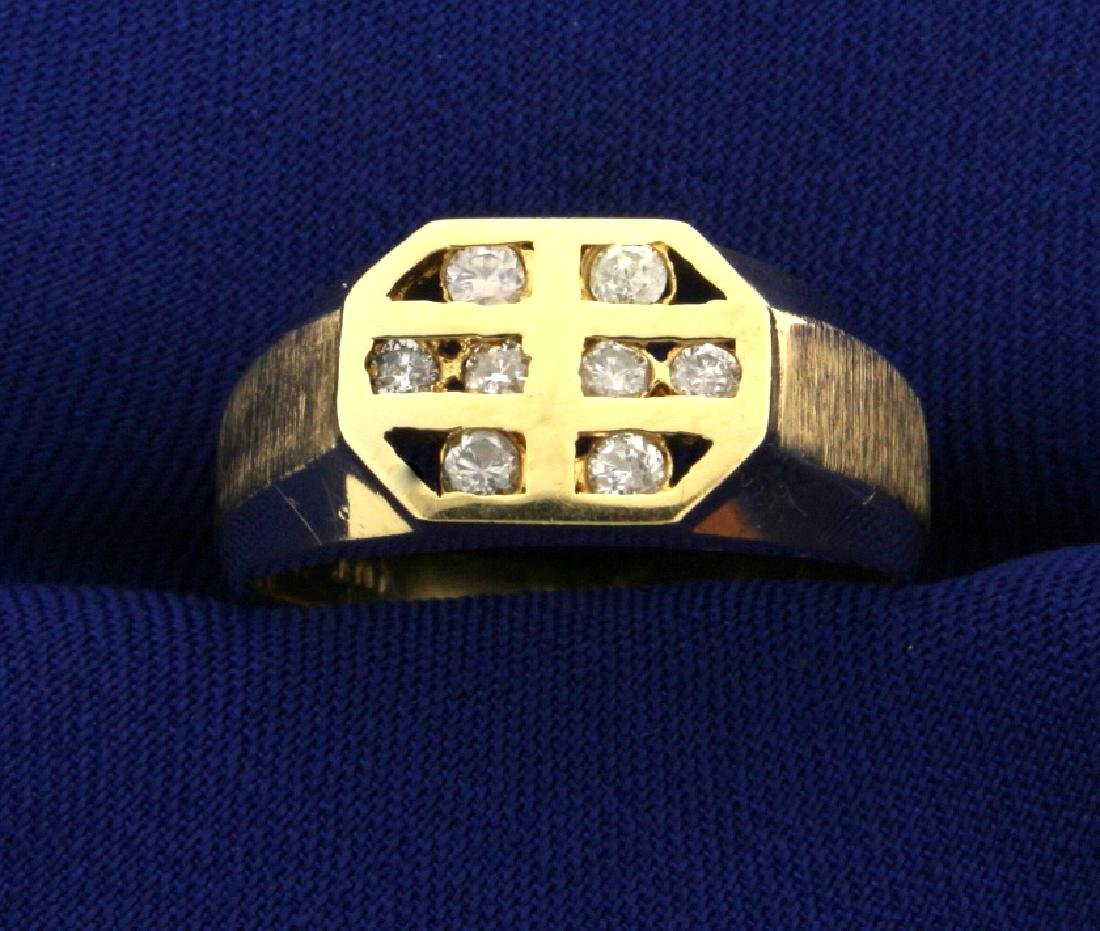 Contemporary 1/4 ct TW Diamond Ring