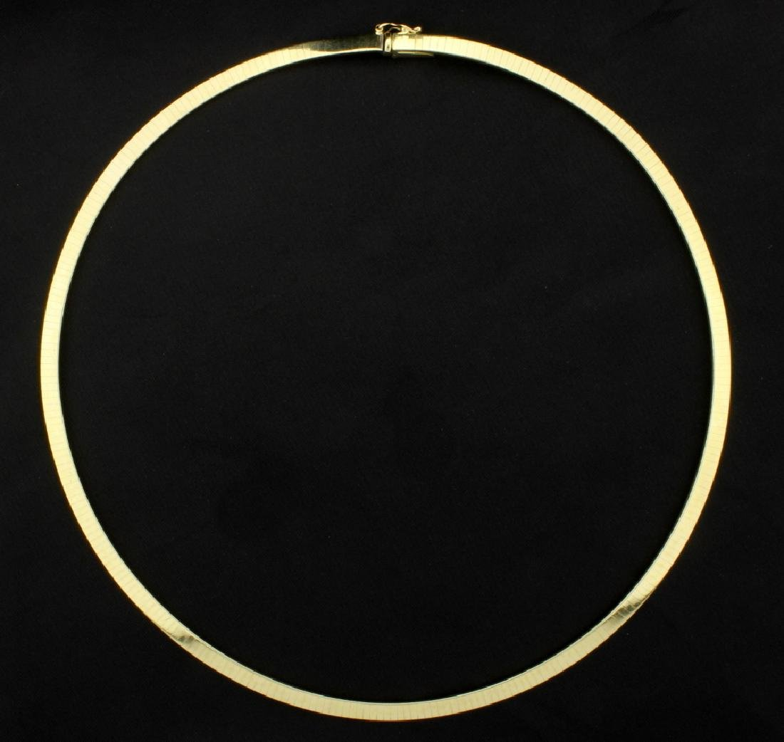 Italian Made 17 Inch Omega Necklace