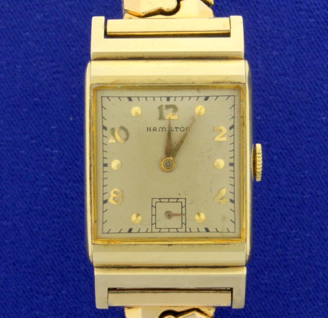 Vintage 14k 1946 Hamilton Men's Wrist Watch