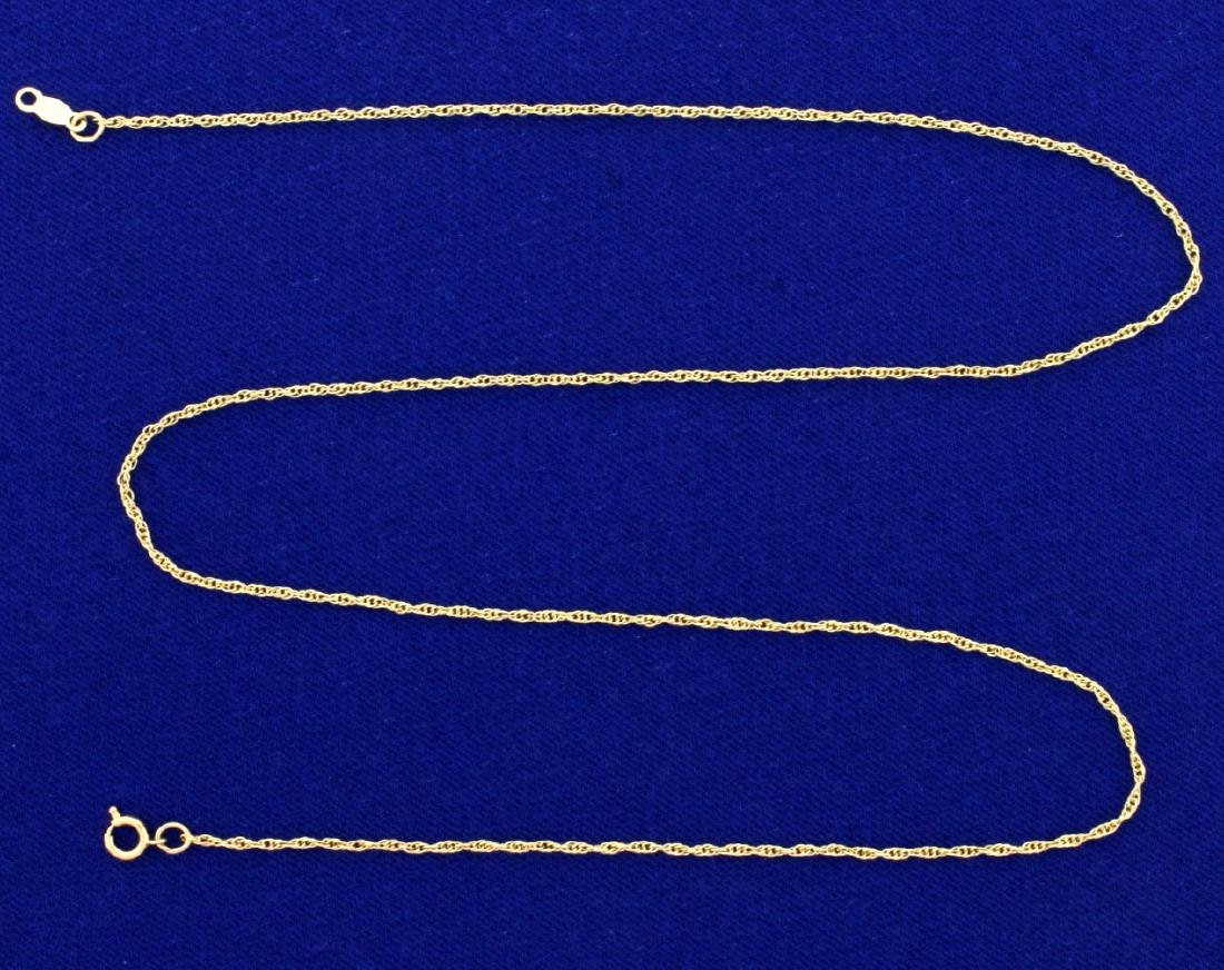 18 Inch 14k Rope Style Neck Chain