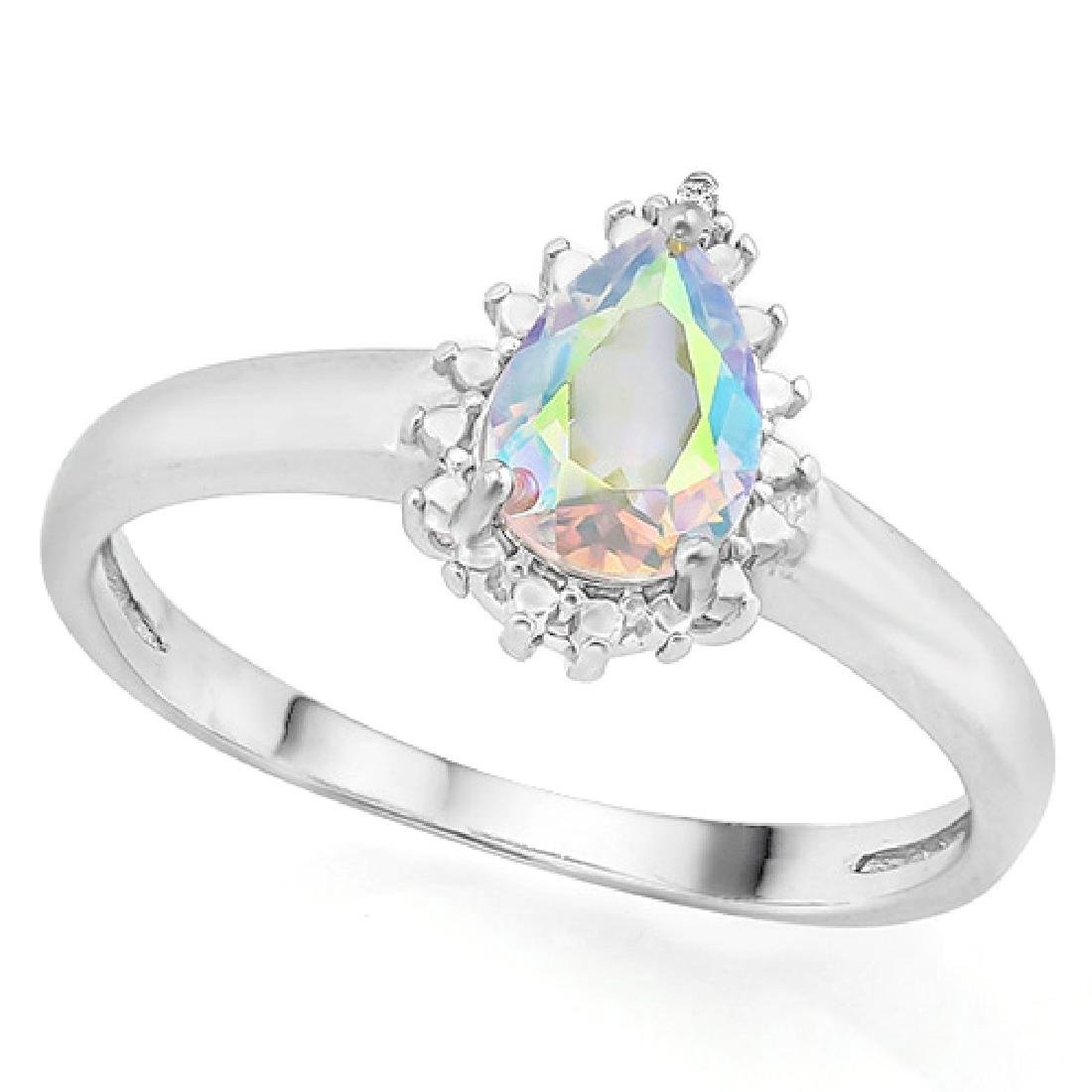 Mercury Mystic Topaz Ring with Diamond in Sterling