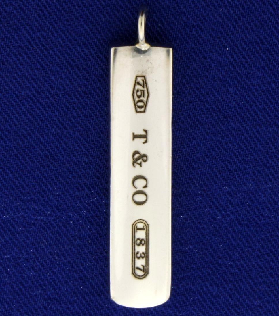 Tiffany 18K Gold Bar Pendant