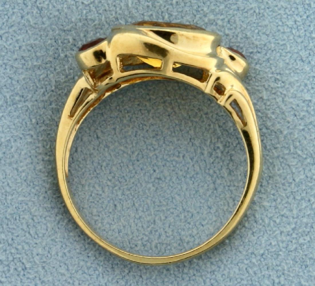 Citrine and Garnet Ring - 3