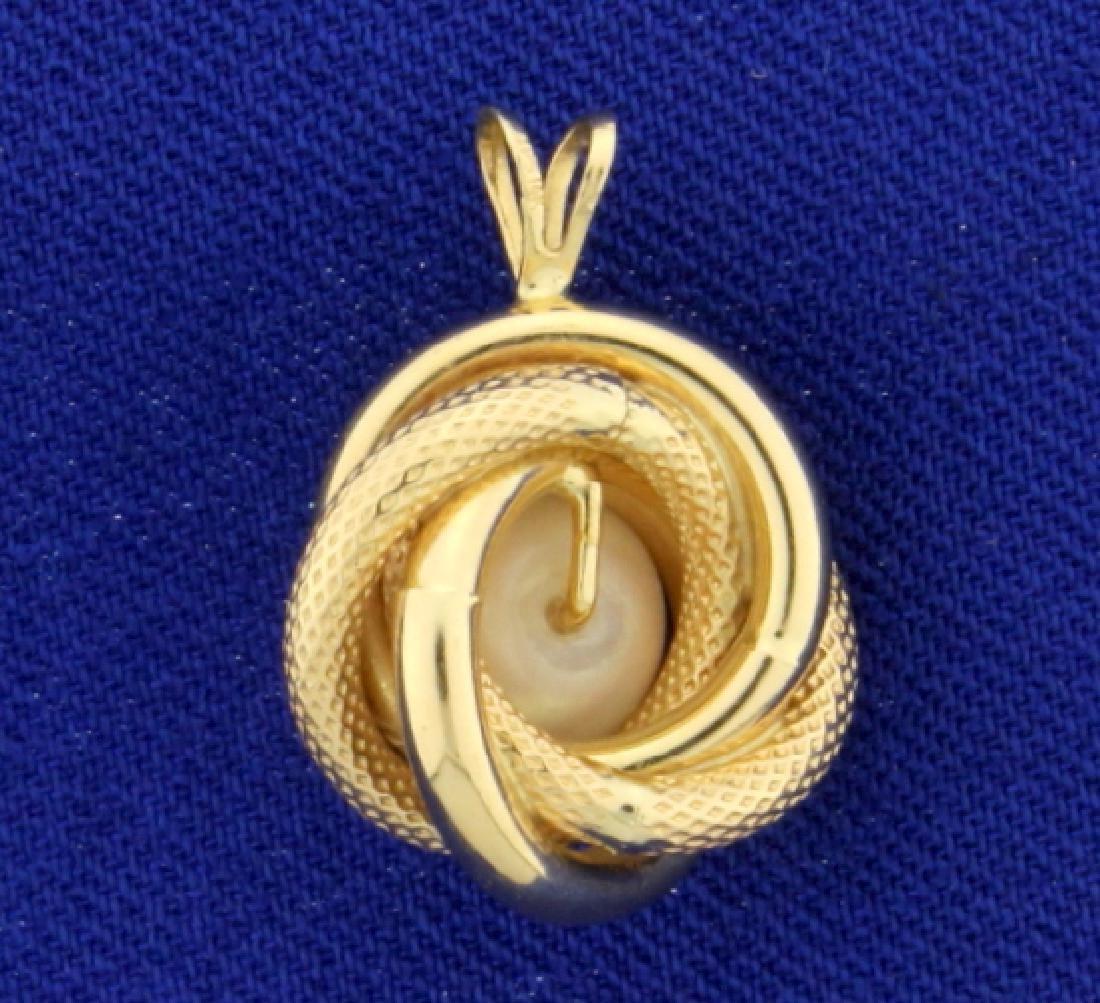 Akoya Pearl Pendant in 14K Yellow Gold - 2