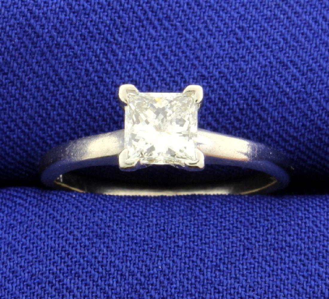 .84 Carat Princess Cut Diamond Solitaire Engagement