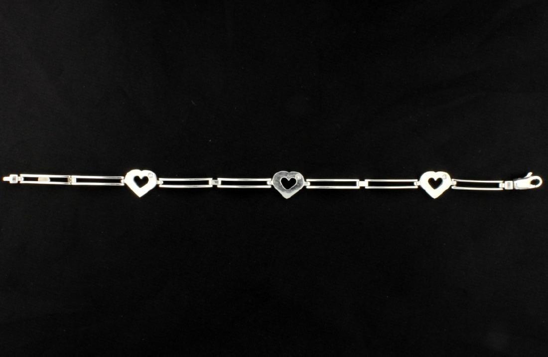 Italian Made Diamond Heart Bracelet