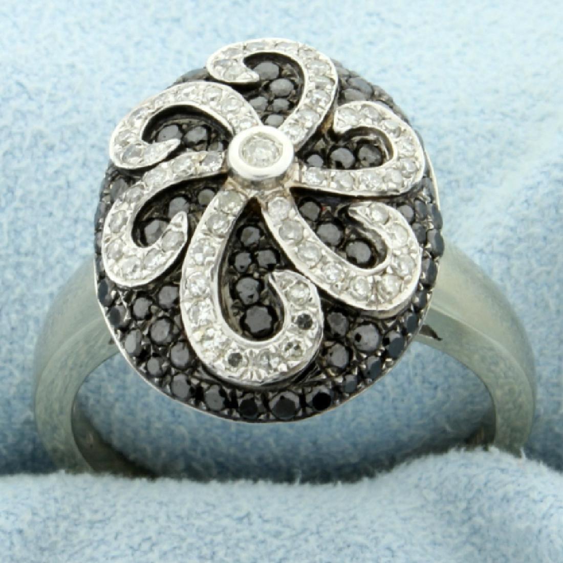 1 ct TW Black & White Diamond Ring