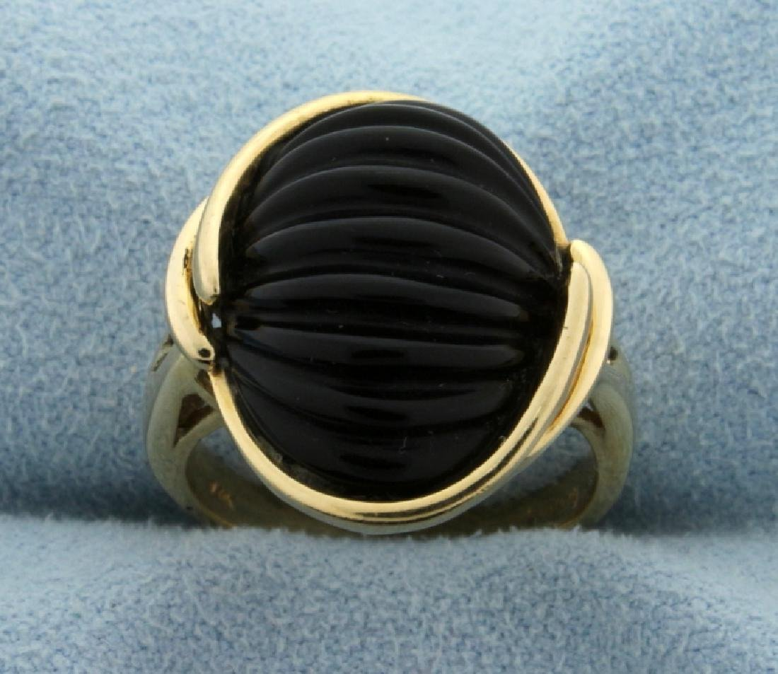 Jet Fashion Ring