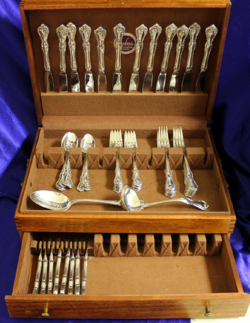 Reed and Barton Rose Cascade 59 piece Sterling Silver
