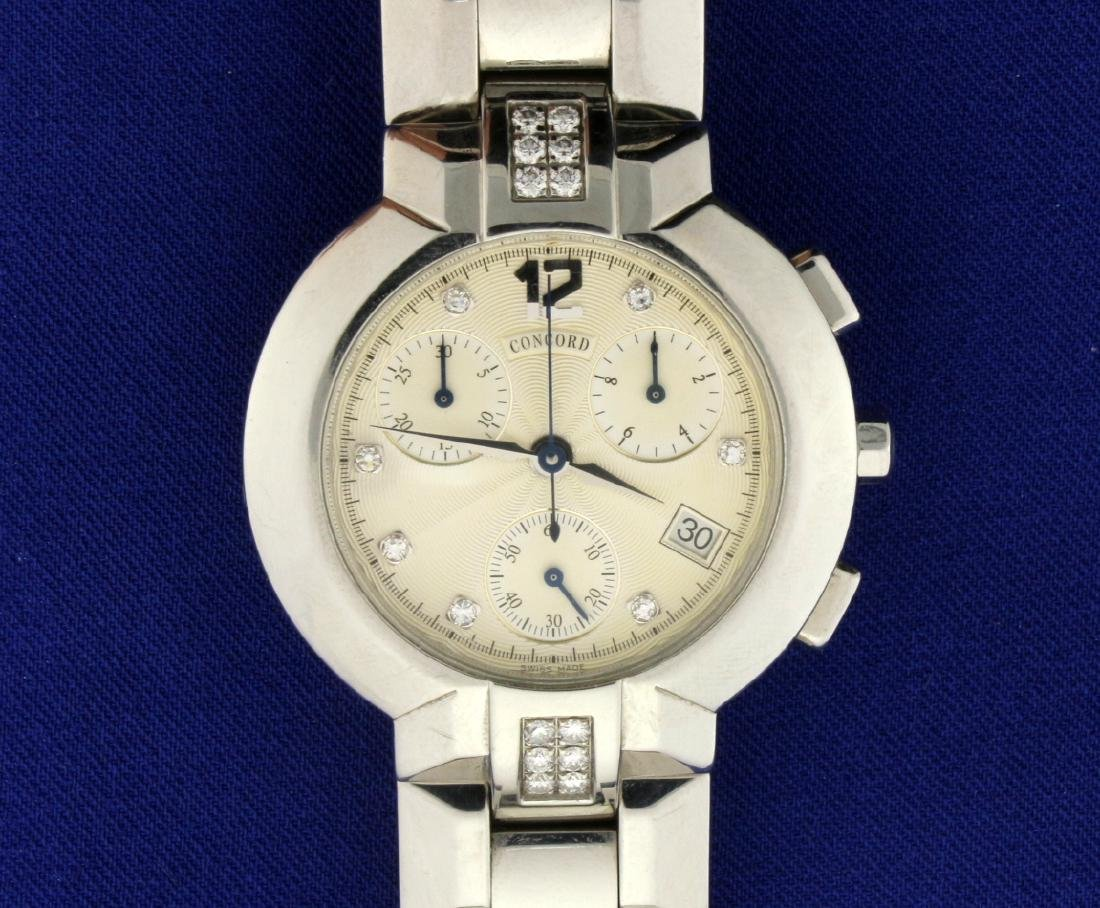 Men's Concord La Scala Diamond Chronograph Watch