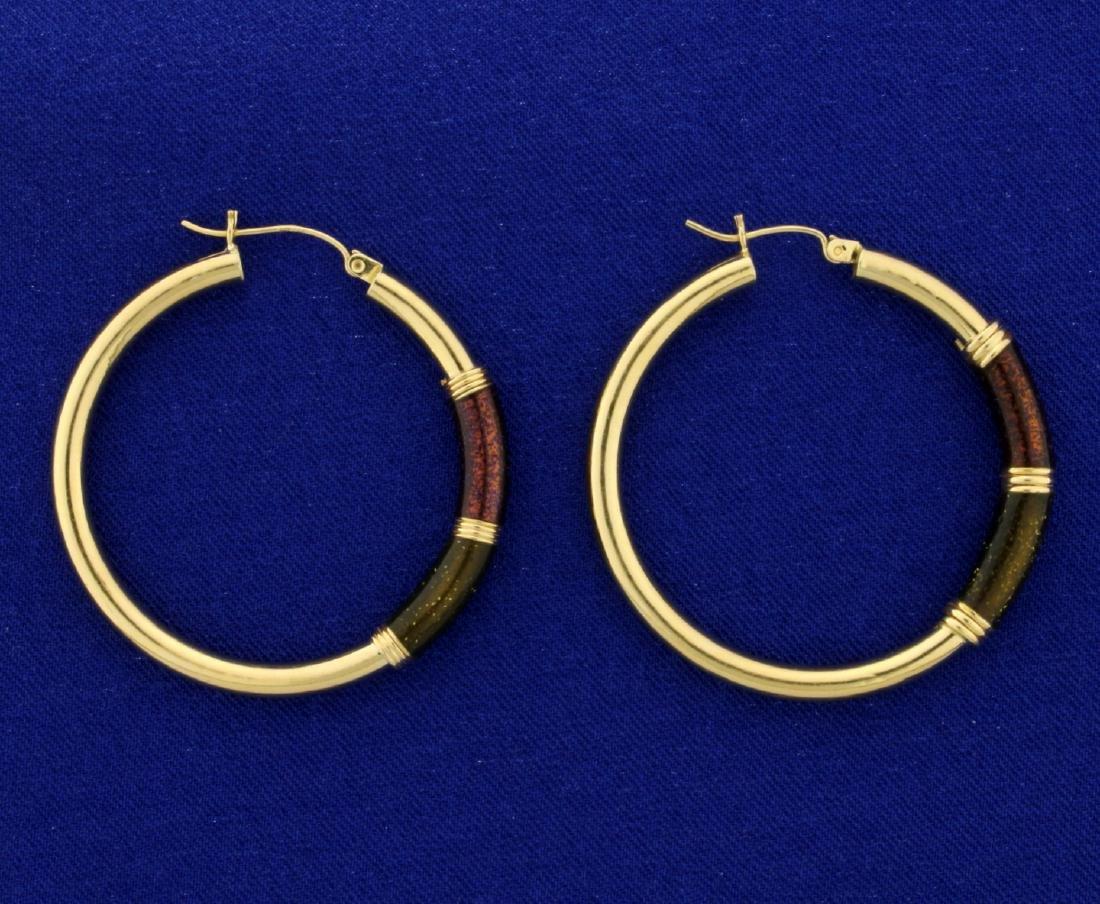 Large 14k Gold Hoop Earrings