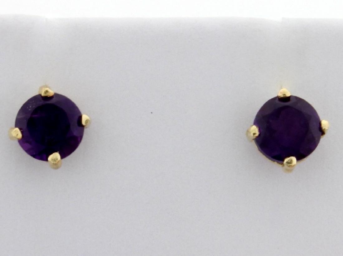 Amethyst Stud Earrings