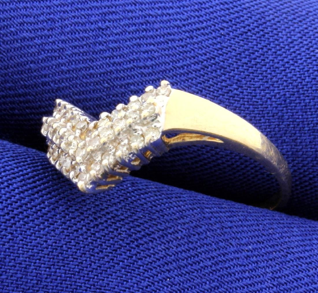 1/3ct Total Weight Diamond Ring - 2