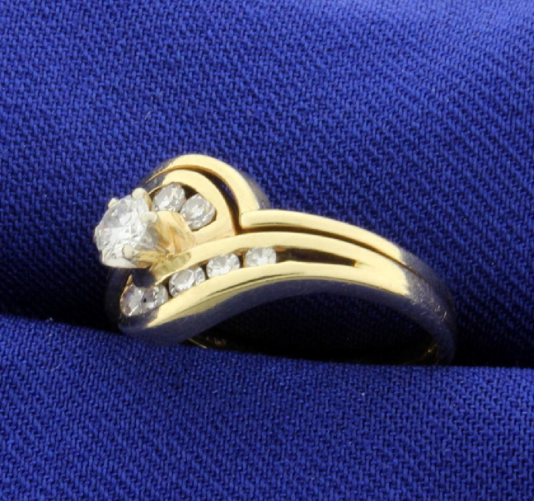 1/2ct Total Weight Diamond Ring - 2