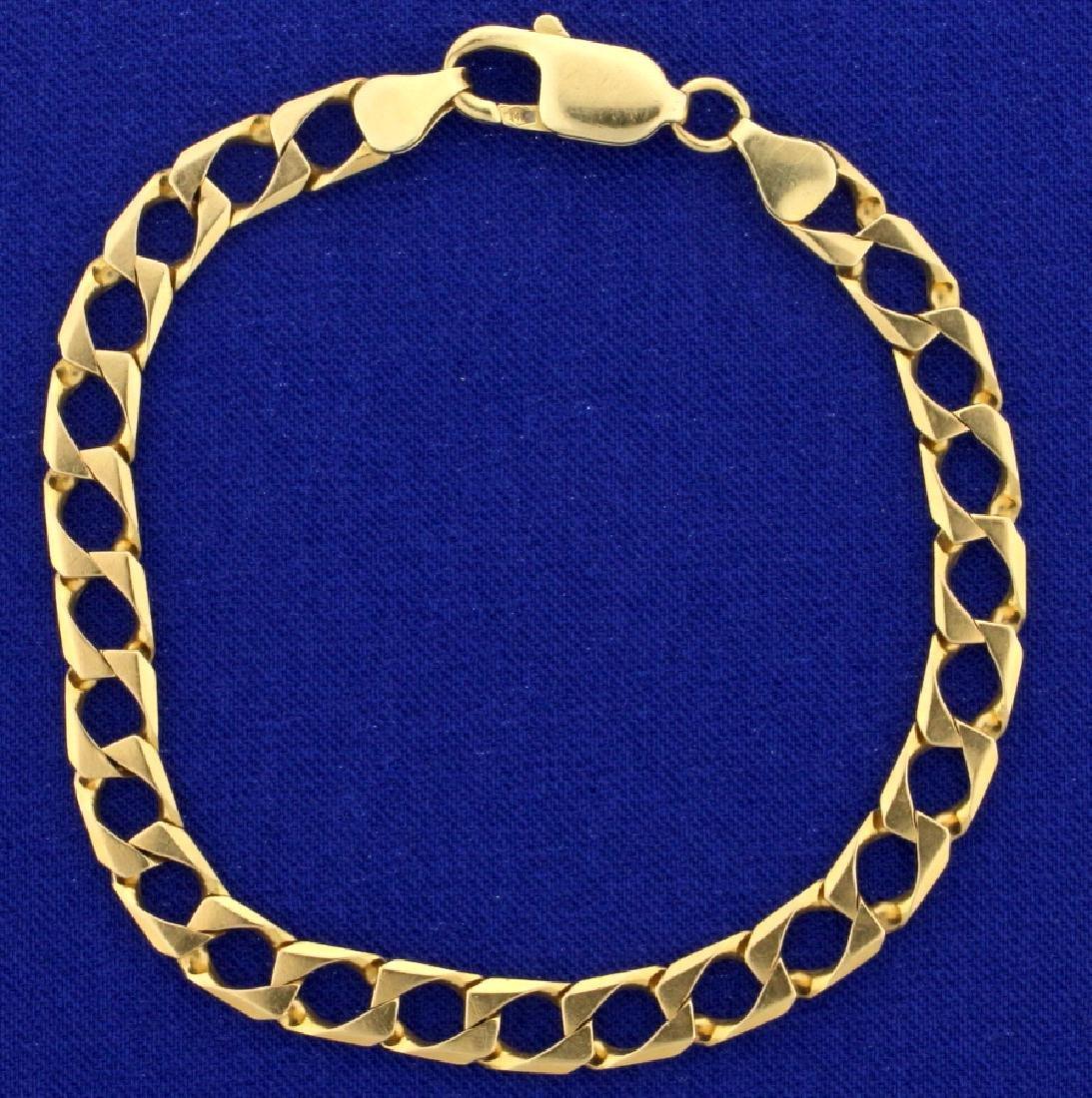 7 1/2 Inch Square Curb Link Bracelet