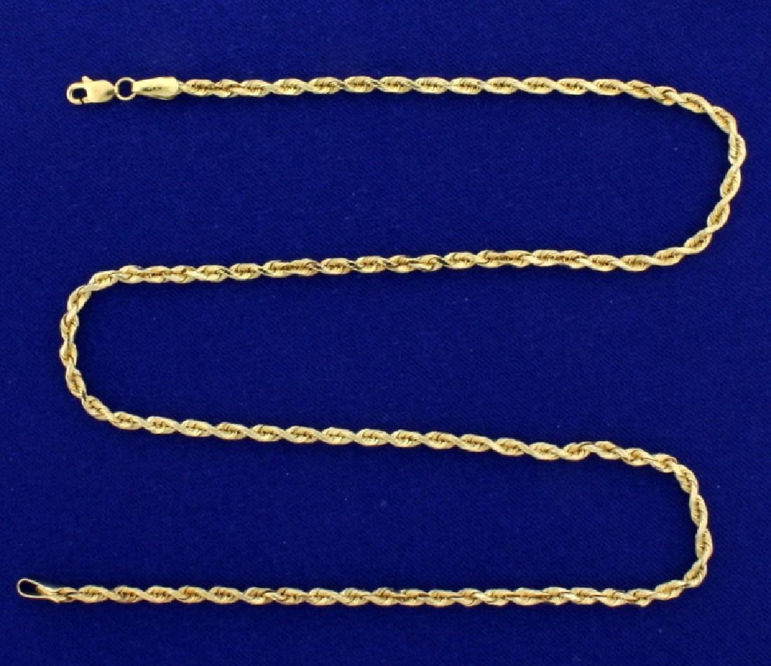 18 Inch Rope Style Neck Chain