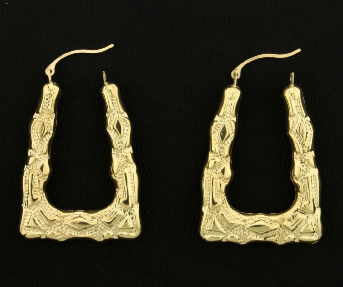 Unique Dangle Designer Earrings in 14k Gold