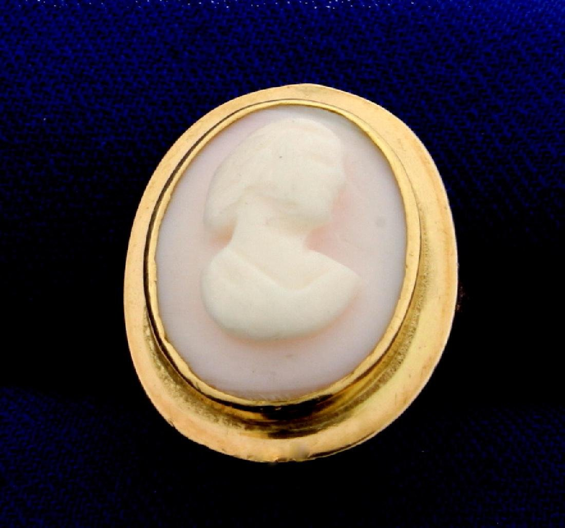 Antique Cameo Ring in 14K Yellow Gold