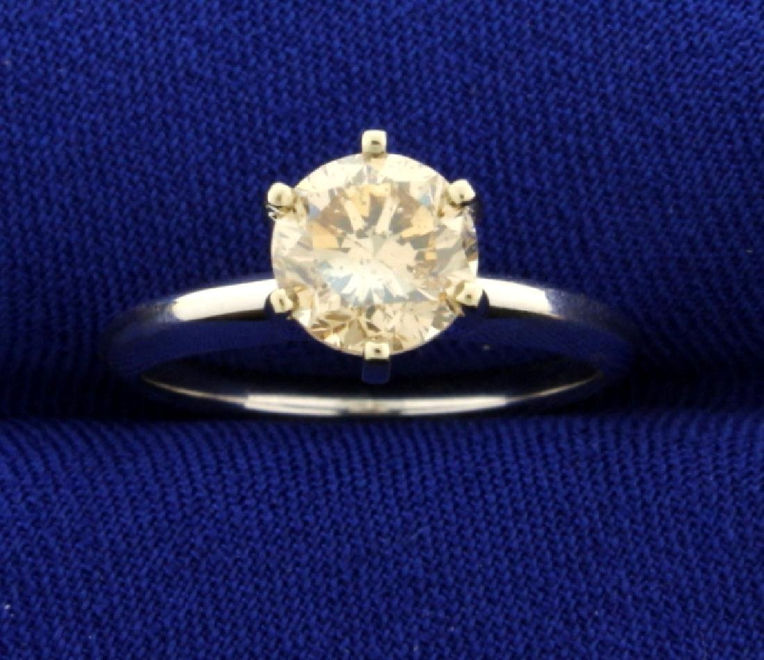 1 1/4ct Champagne Diamond Solitaire Engagement Ring in