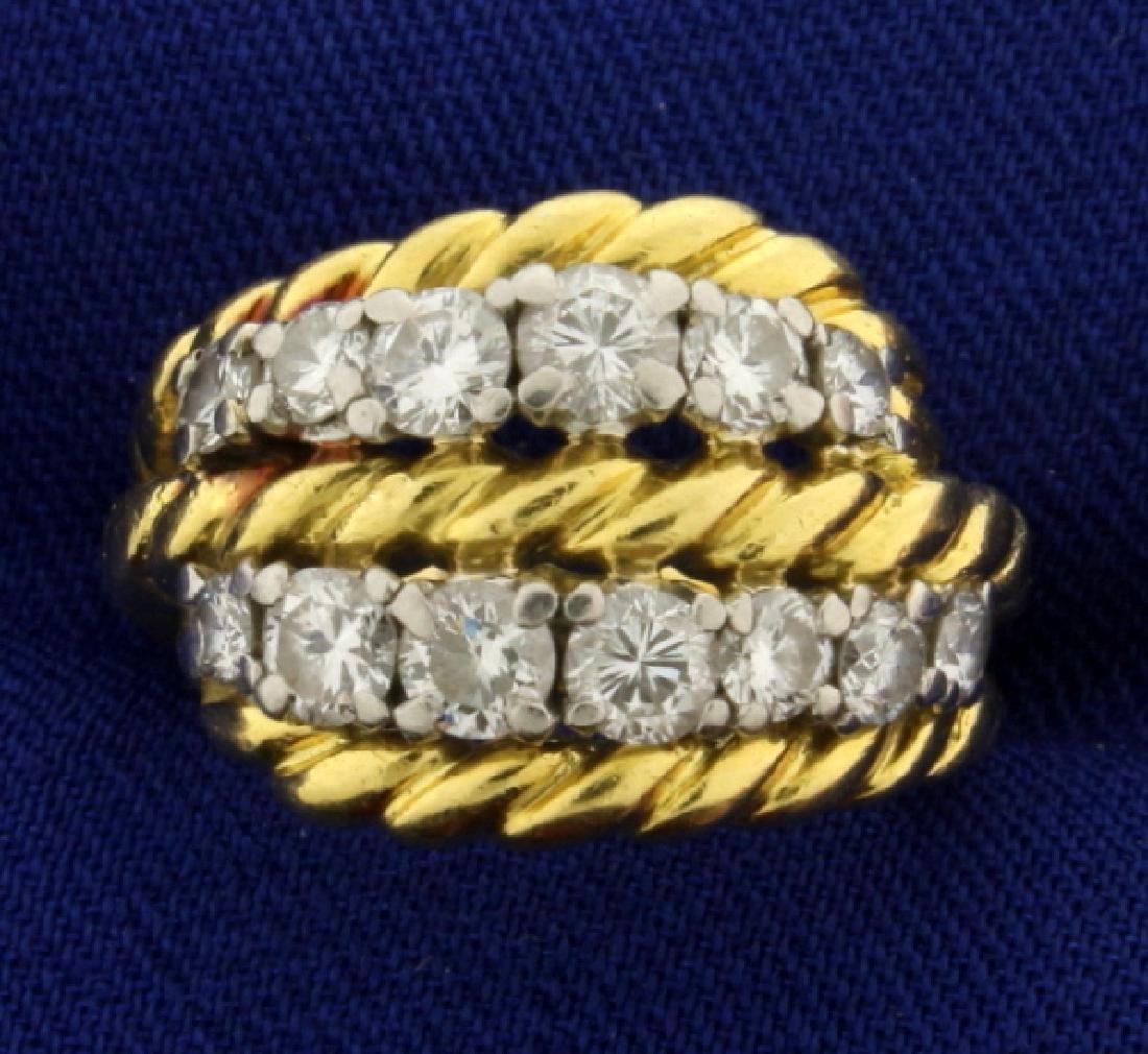 Vintage Van Cleef & Arpels 1ct TW Diamond Ring
