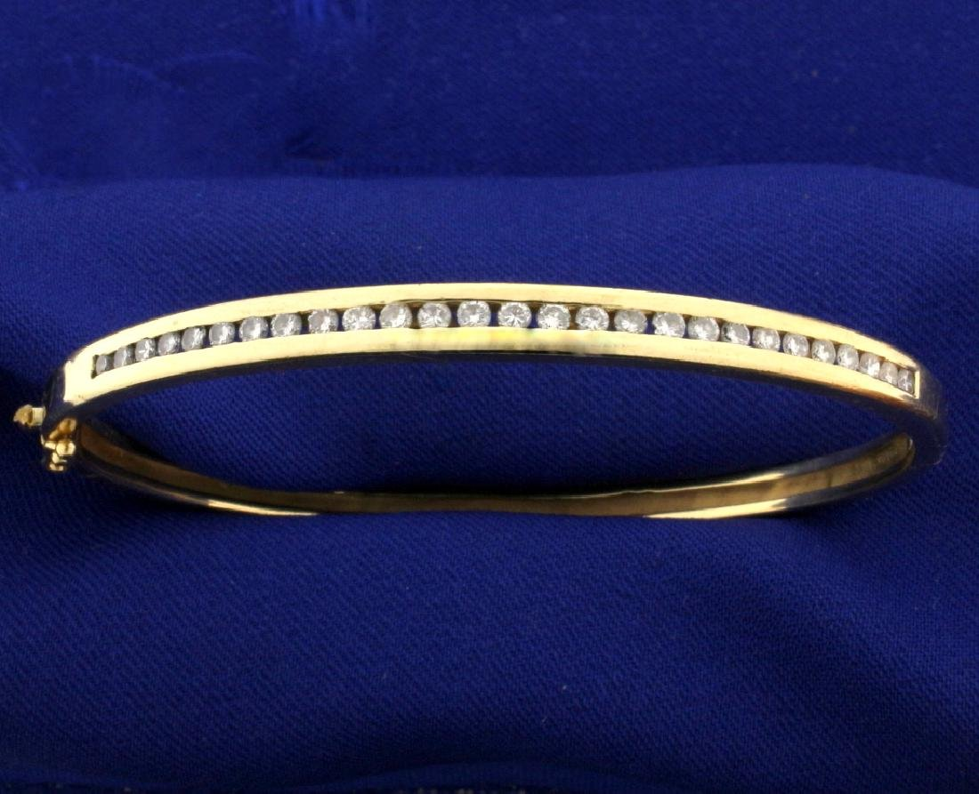 1ct TW Diamond Bangle Bracelet