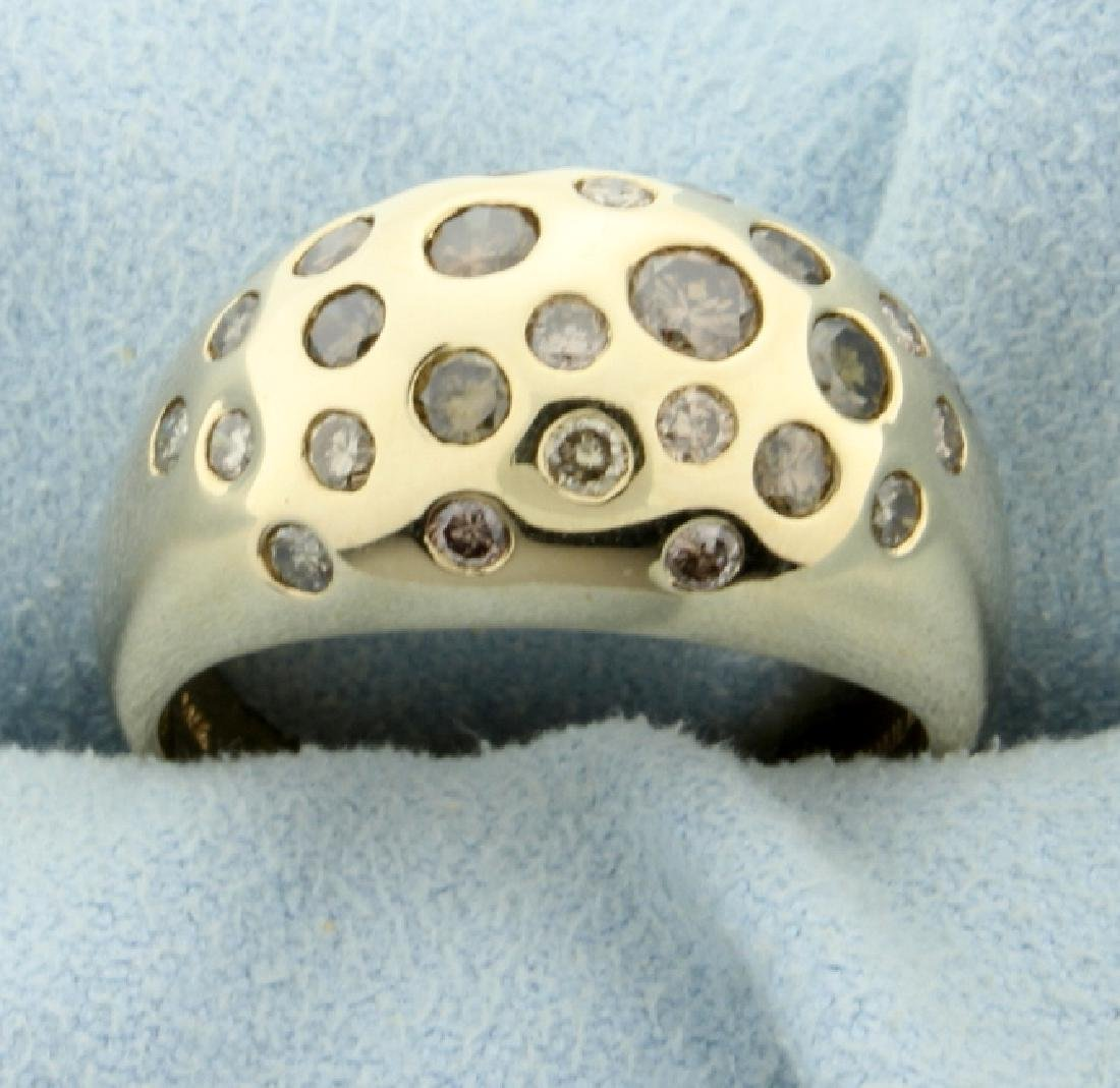 1.25ct TW Chocolate, Champagne, and White Diamond Ring