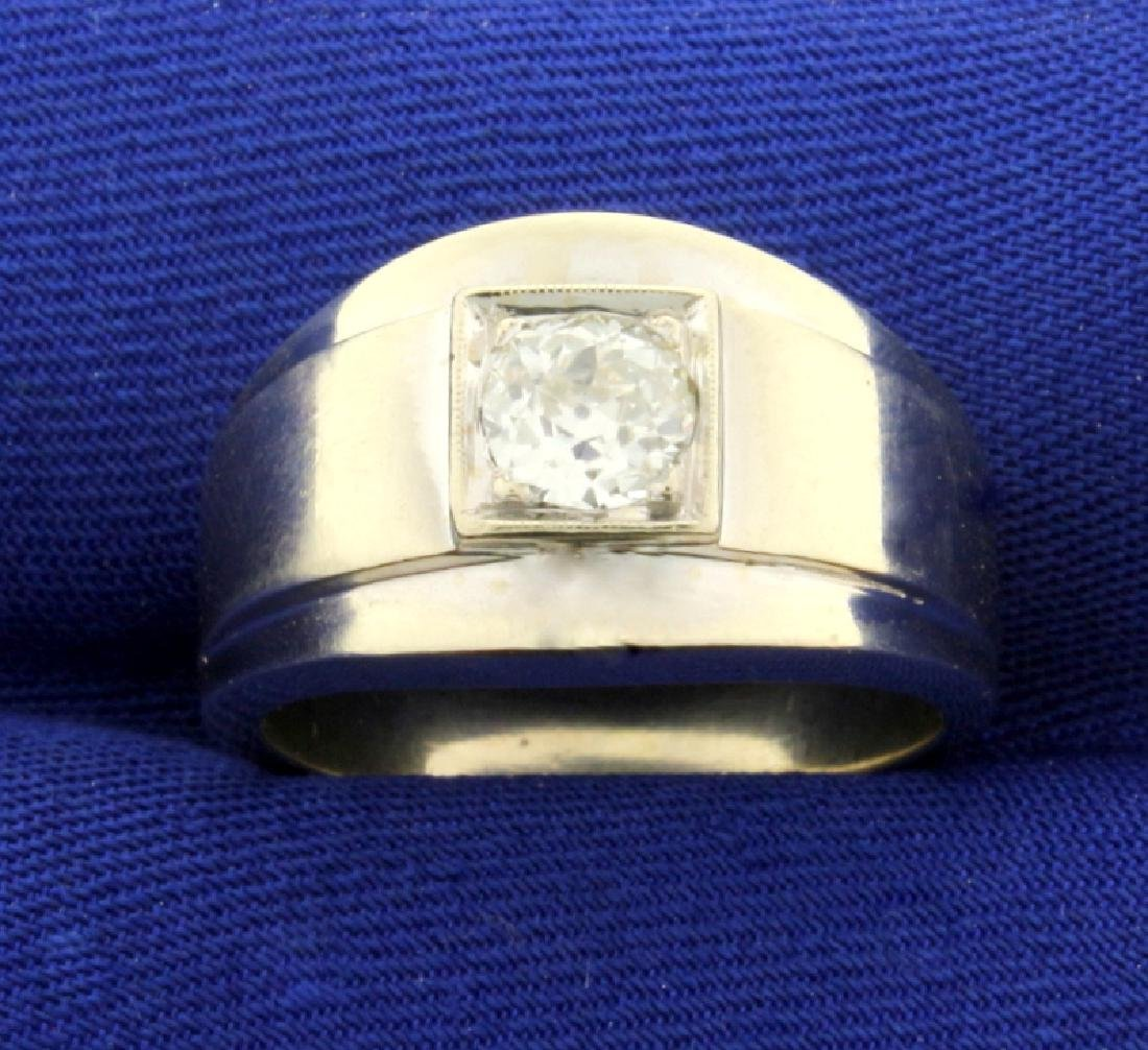 Antique Old European Cut .6ct Solitaire Diamond Ring in
