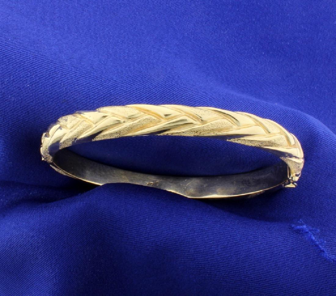 14K Hinged Bangle Bracelet