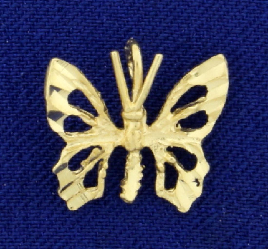 Butterfly Pendant/Charm in 14K Yellow Gold
