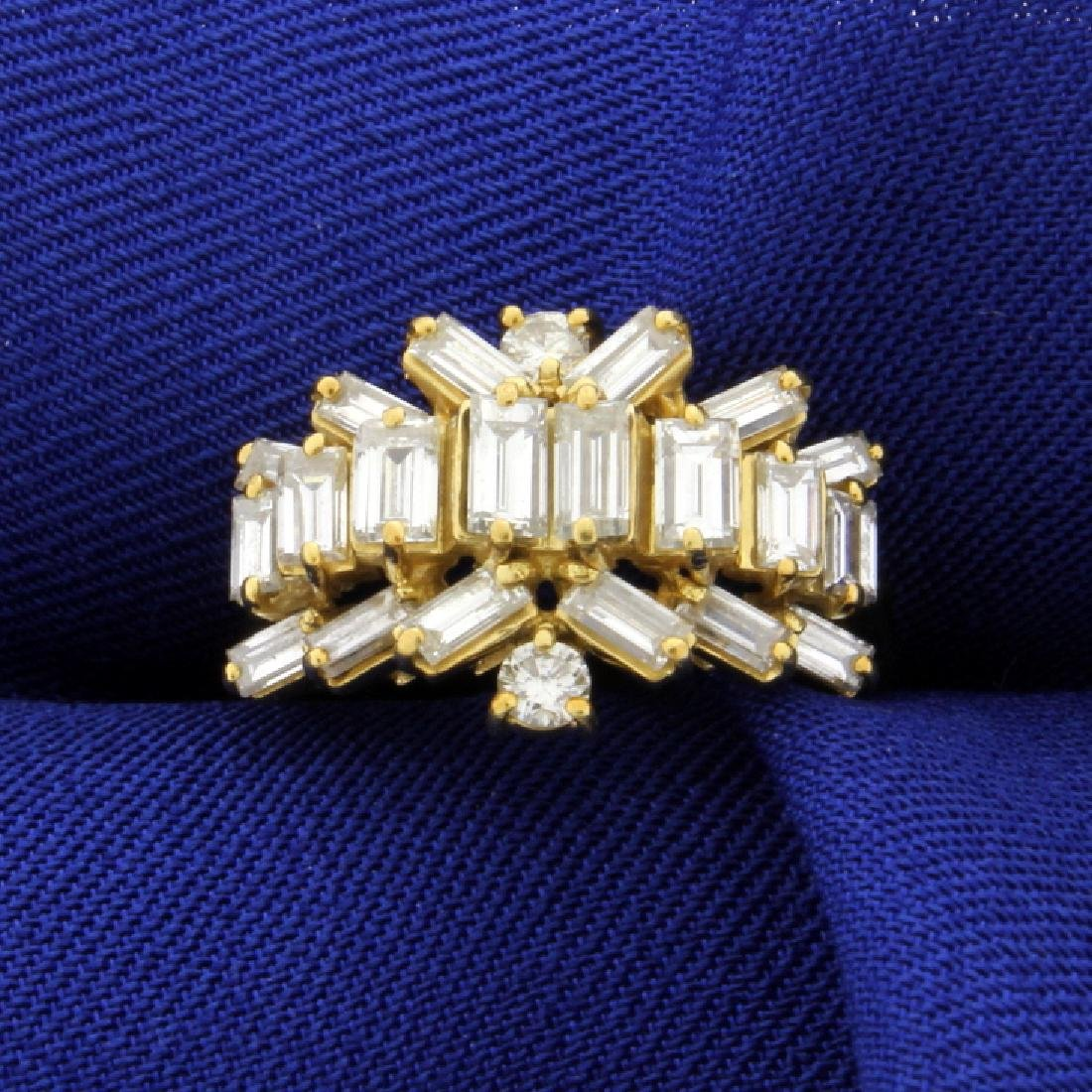 2 1/2ct Total Weight Diamond Ring in 18K