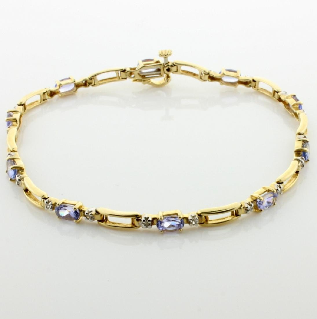 Lab Tanzanite & Diamond Bracelet