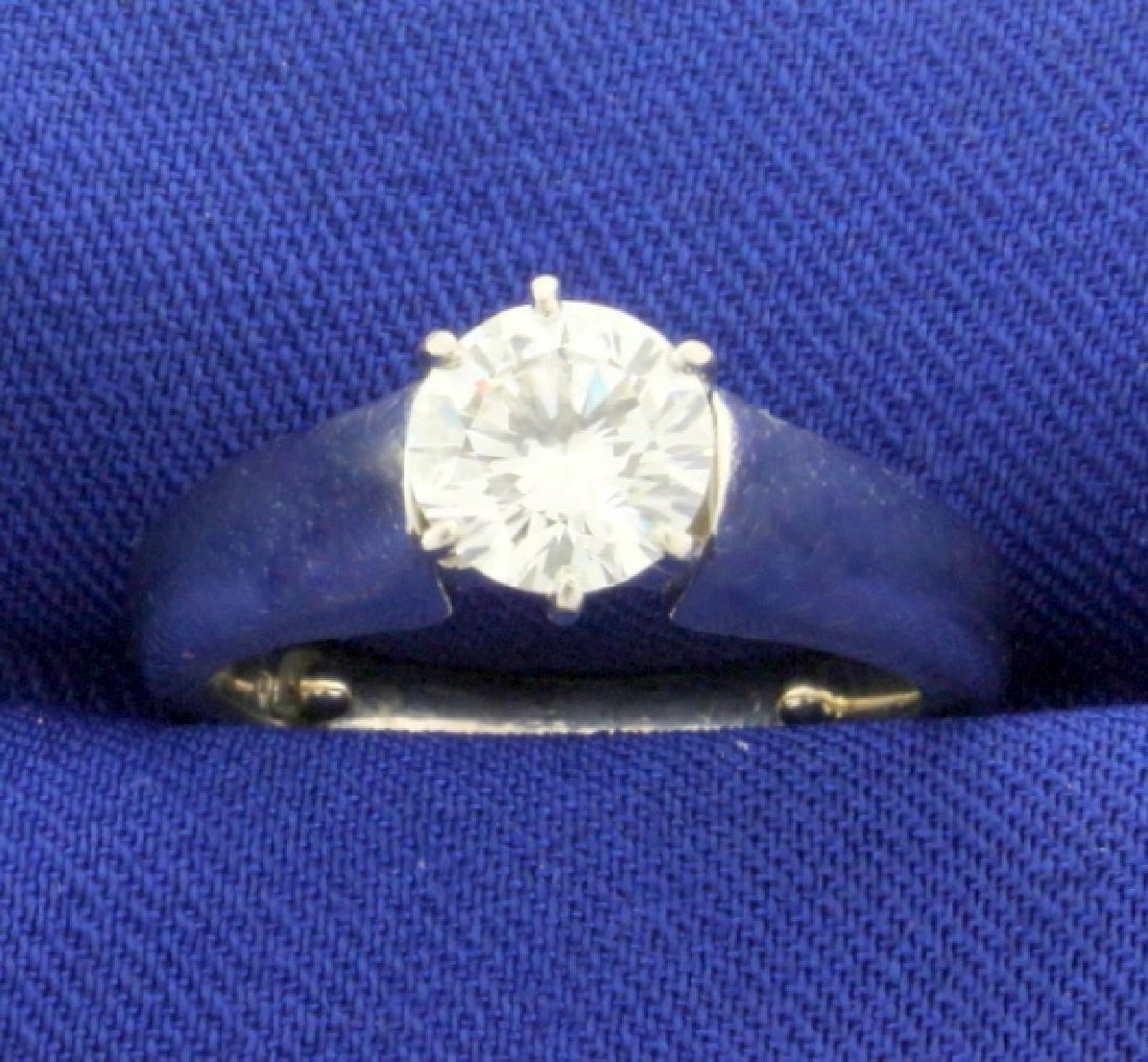 Over 1ct Diamond Engagement Ring in Platinum