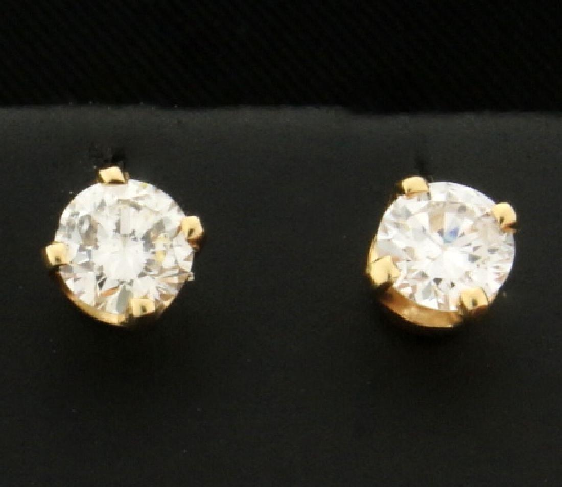 .8ct TW Diamond Stud Earrings in 14K Yellow Gold