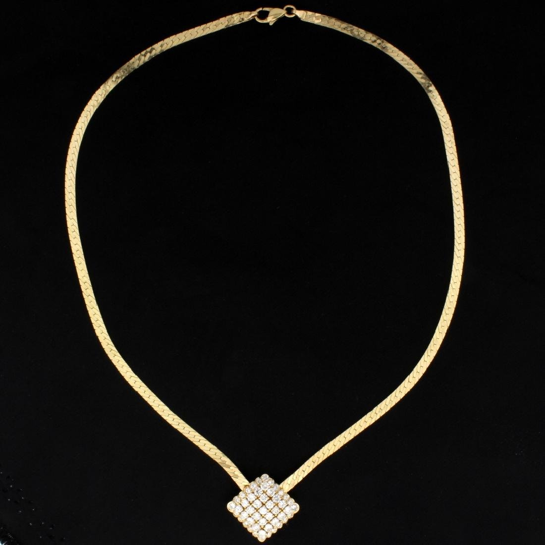 2ct Total Weight Diamond Necklace in 14k Gold