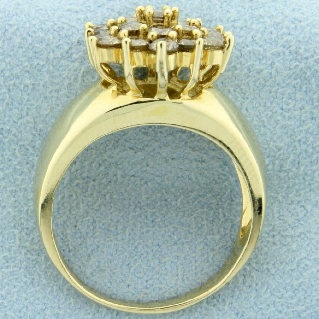2ct TW Champagne Diamond Cluster Ring - 3