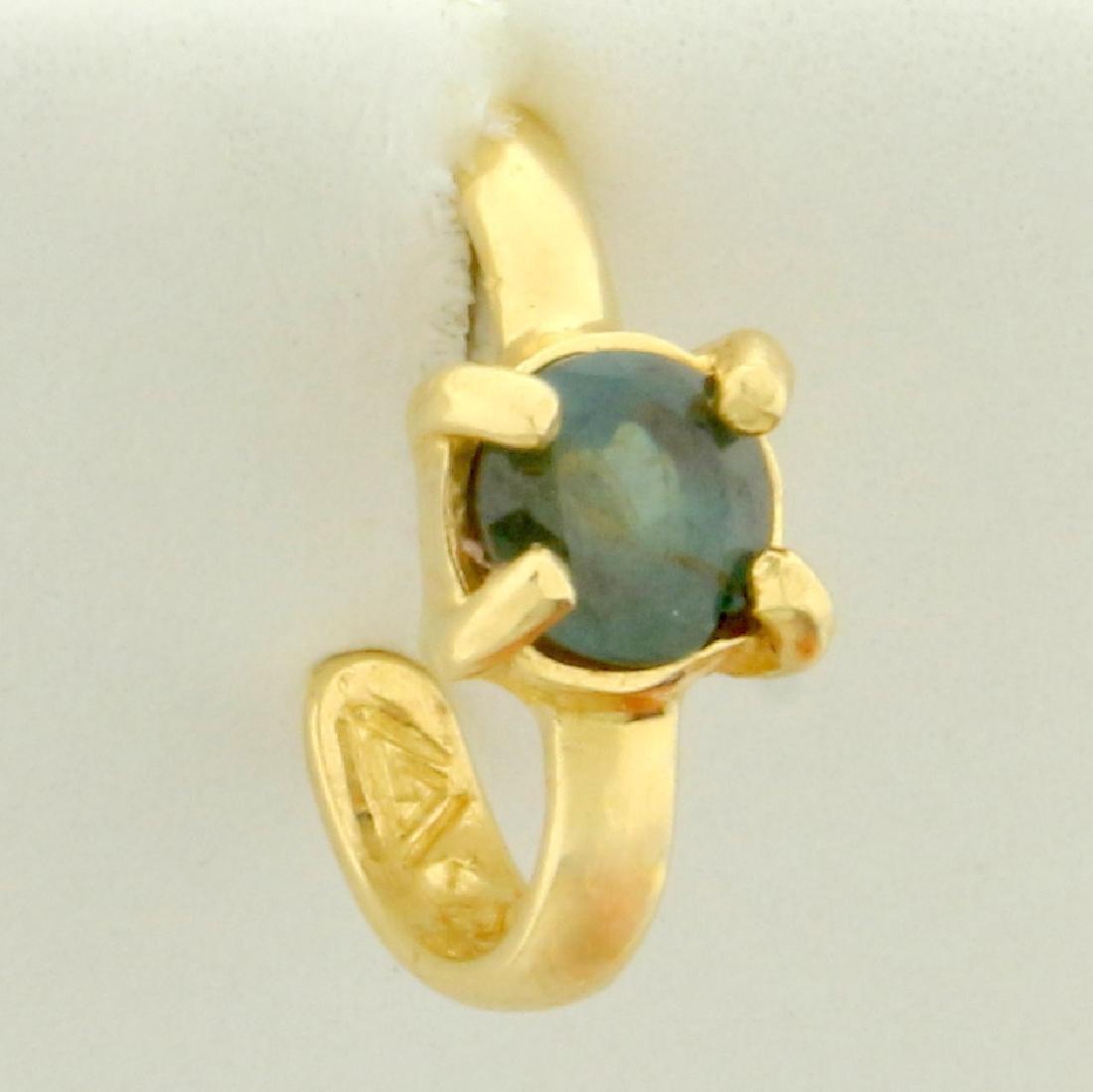 Alexandrite Ear Cuff in 14K Yellow Gold