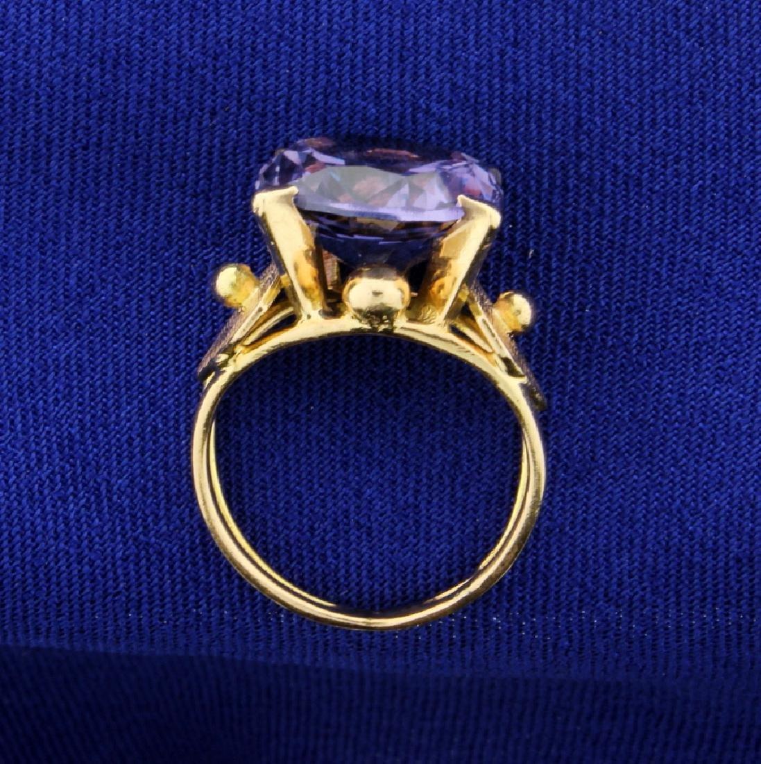 Vintage 6ct Purple Sapphire Ring - 3